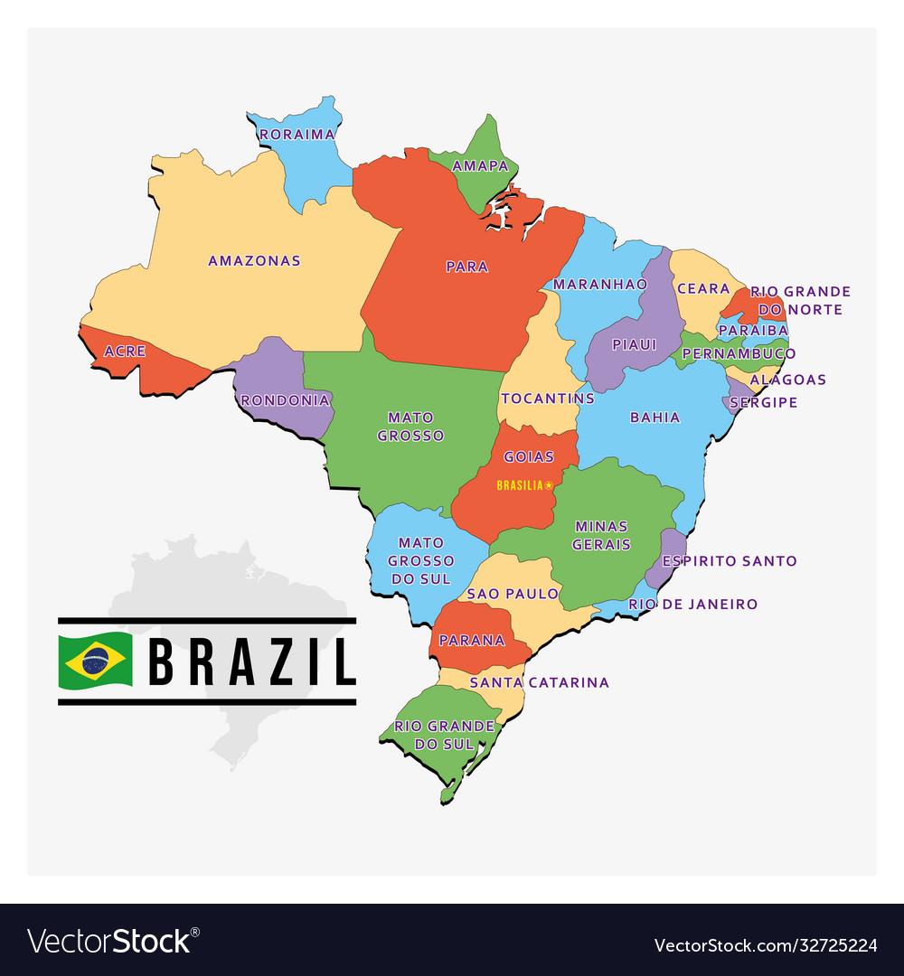 Modern map brazil design