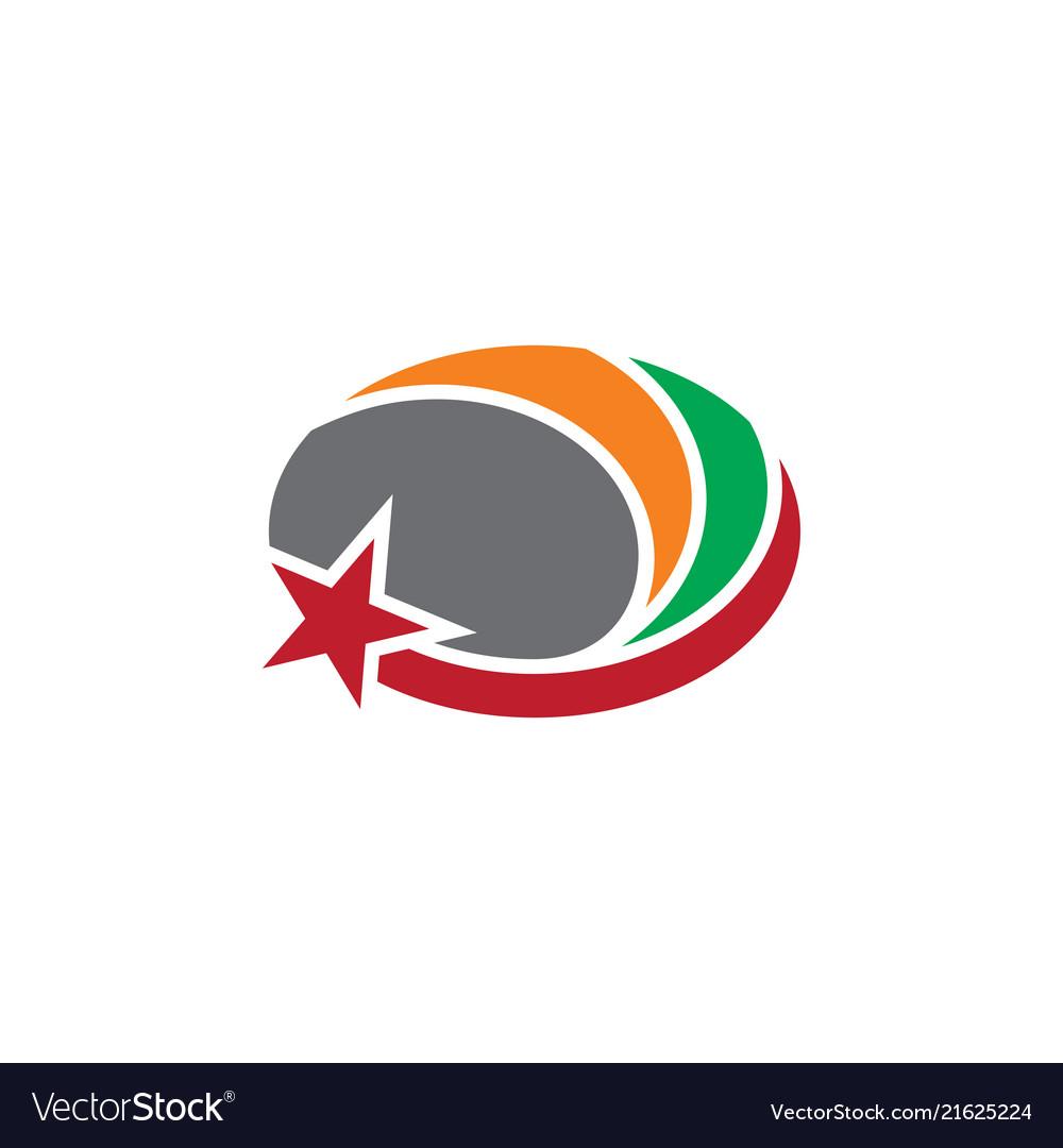 Oval star business logo