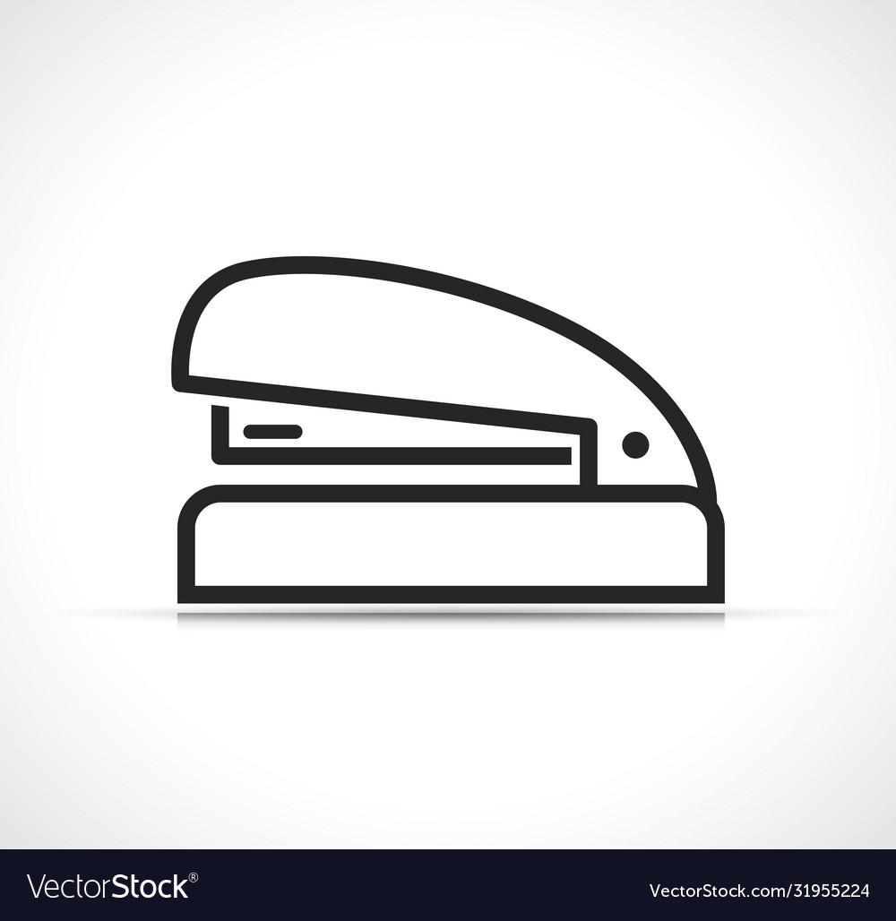 Stapler line icon design