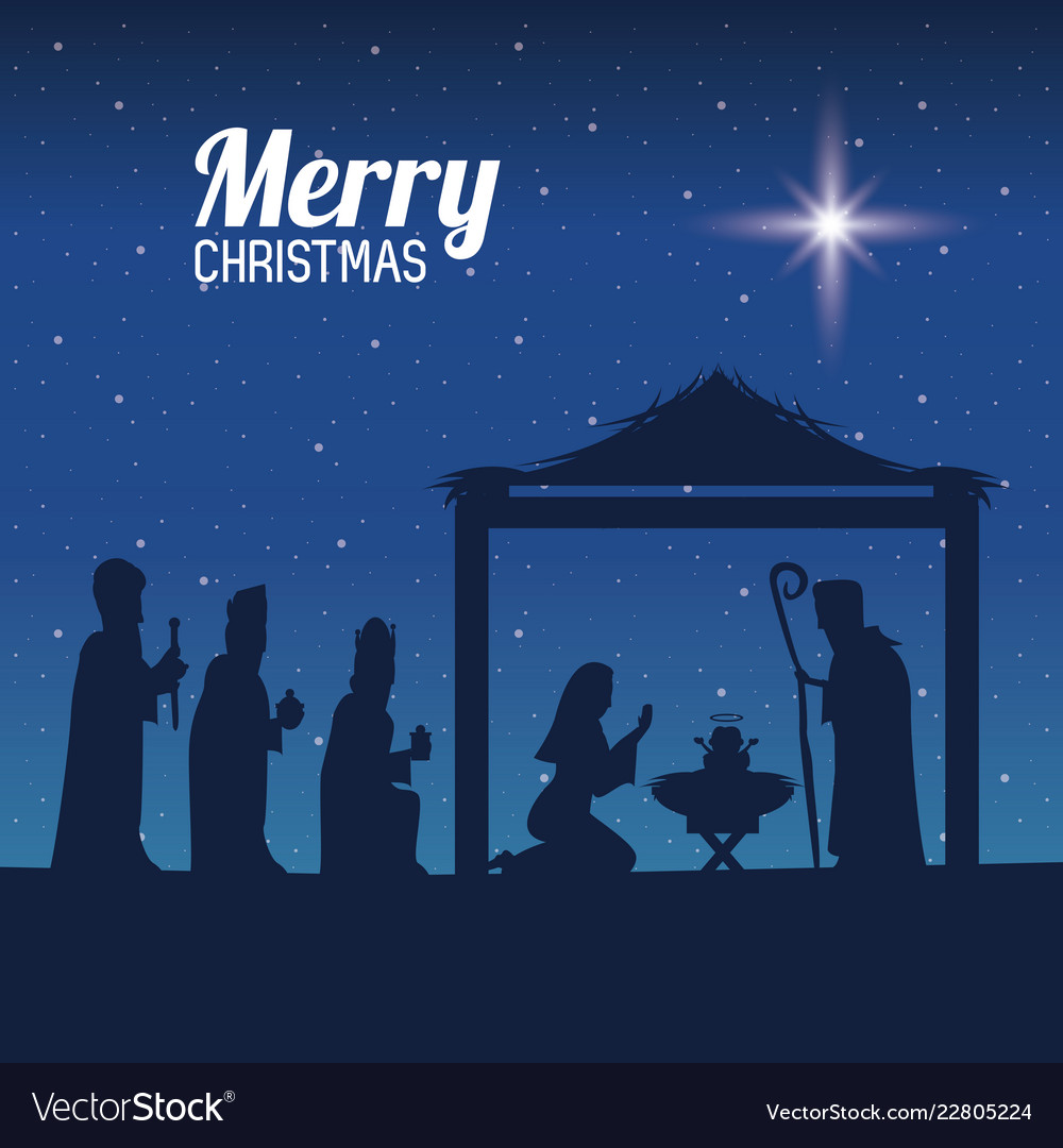 Christian Christmas.Traditional Christian Christmas Vector Image
