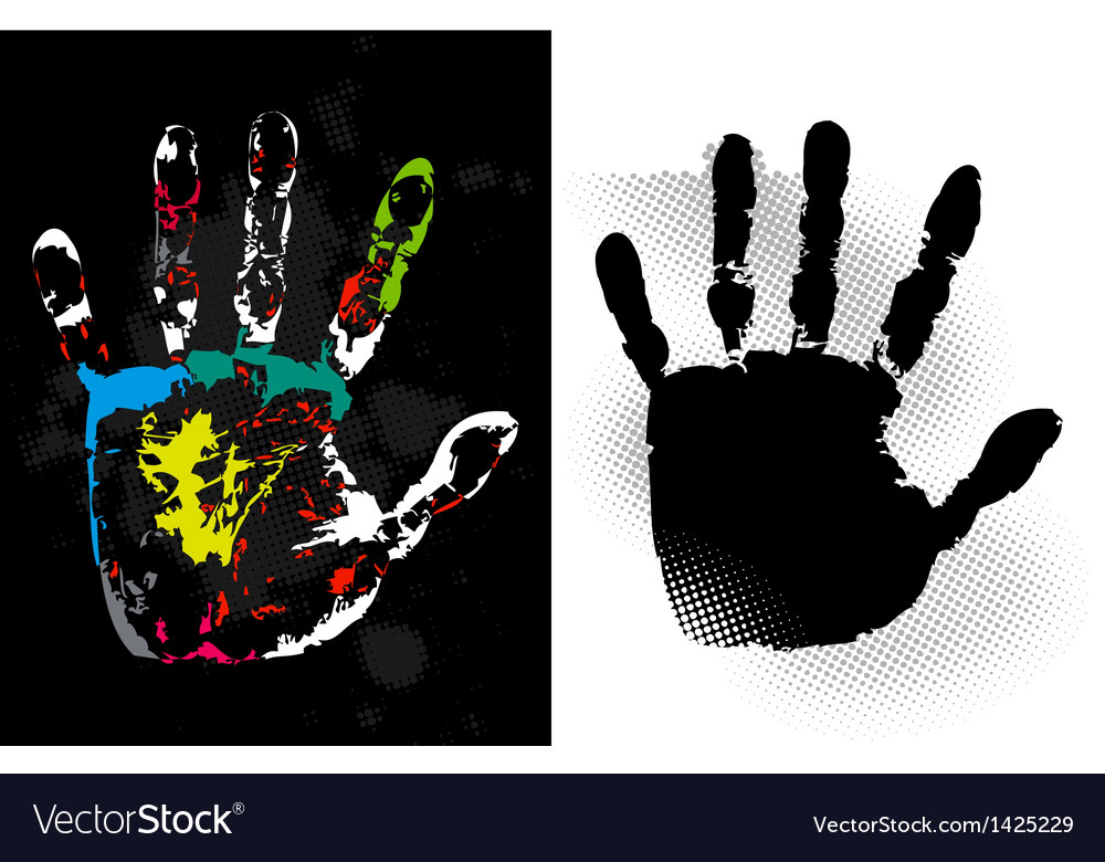 Abstract grunge hand style art