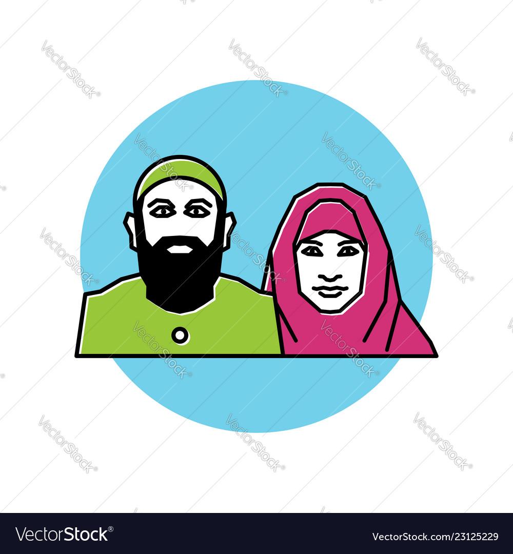 Arabic people symbol muslim people islamic icon