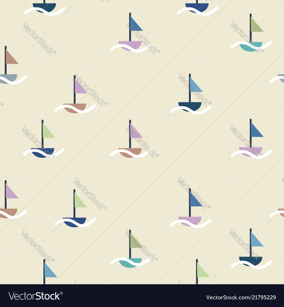 Boat sail doodle pattern