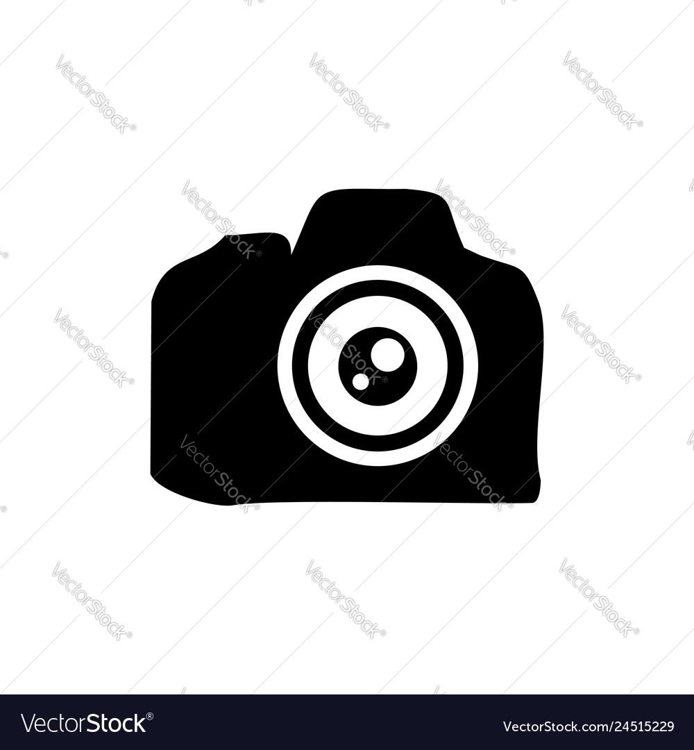 Camera lens professional silhouette symbol design