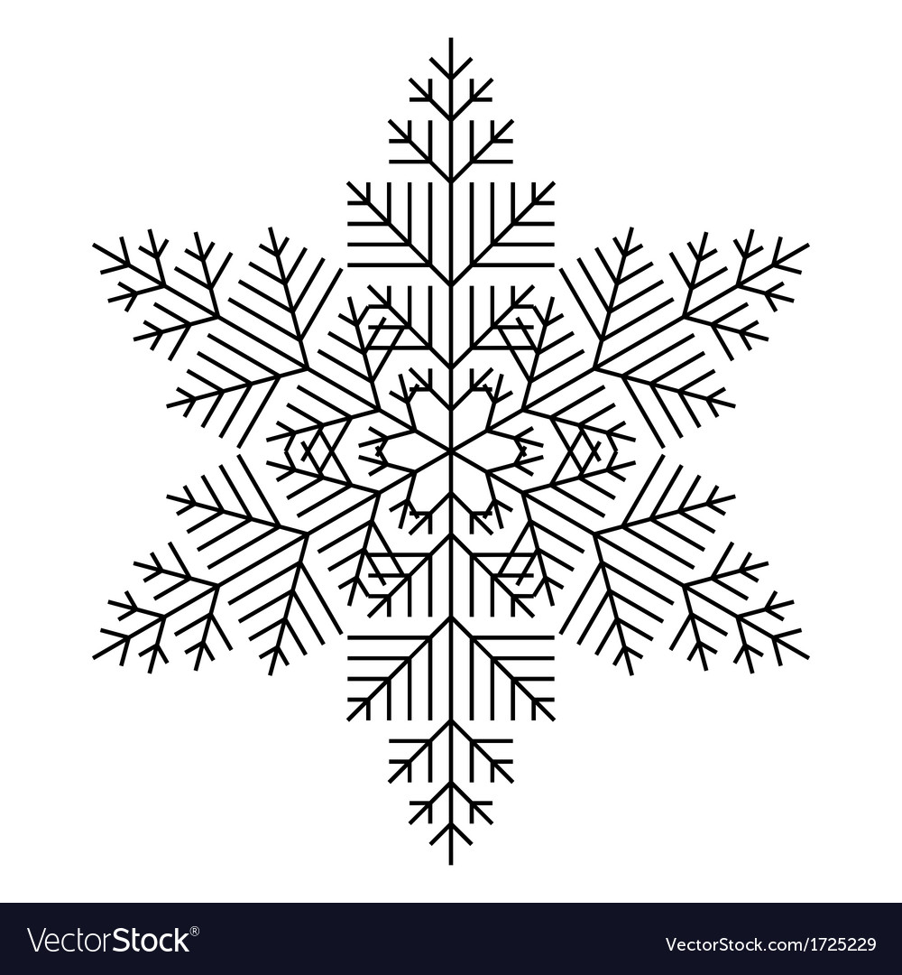 Simple Snowflake vector image