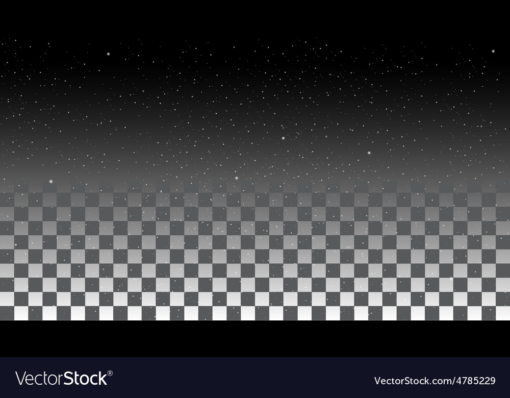 Star Sky on a transparent background vector image