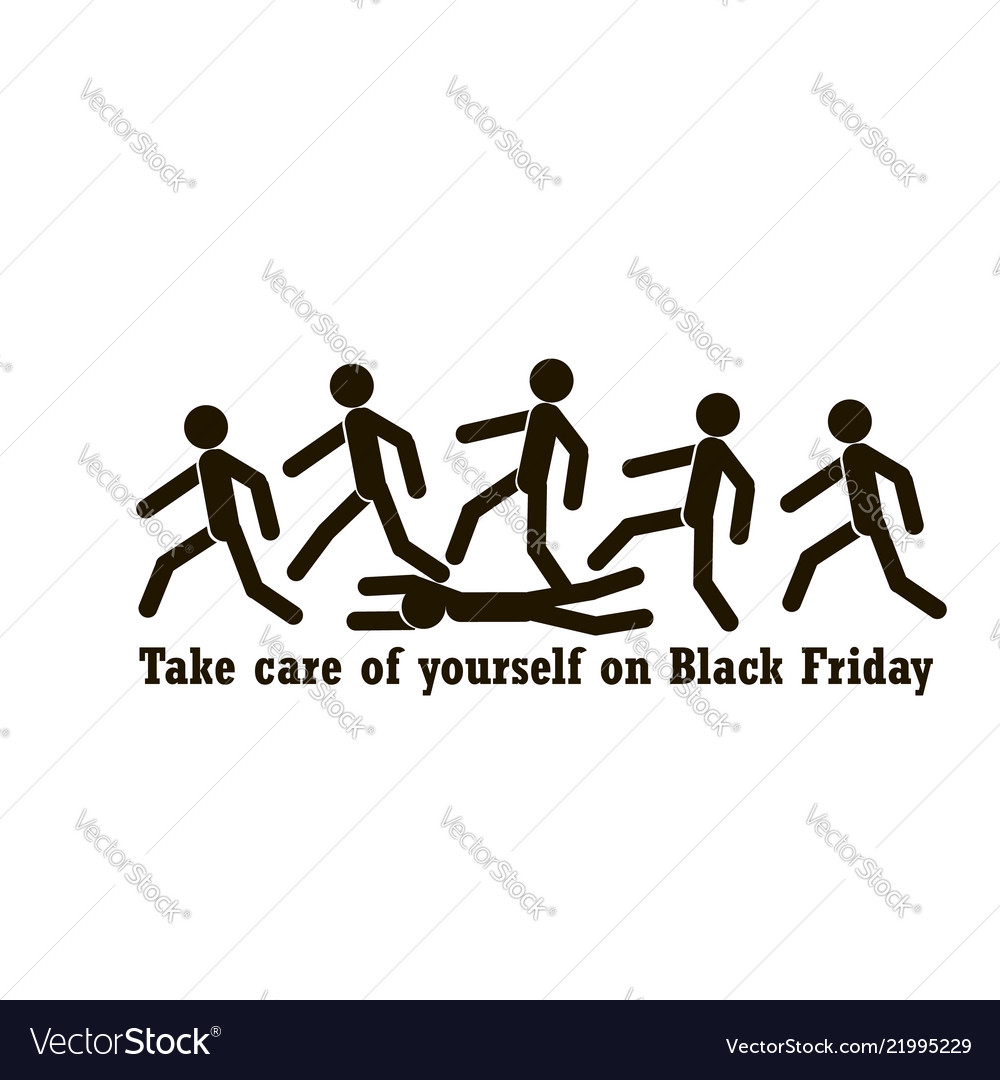 The concept on black friday with a motivating