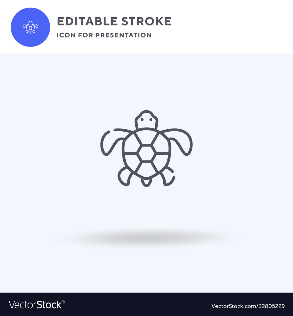 Turtles icon filled flat sign solid