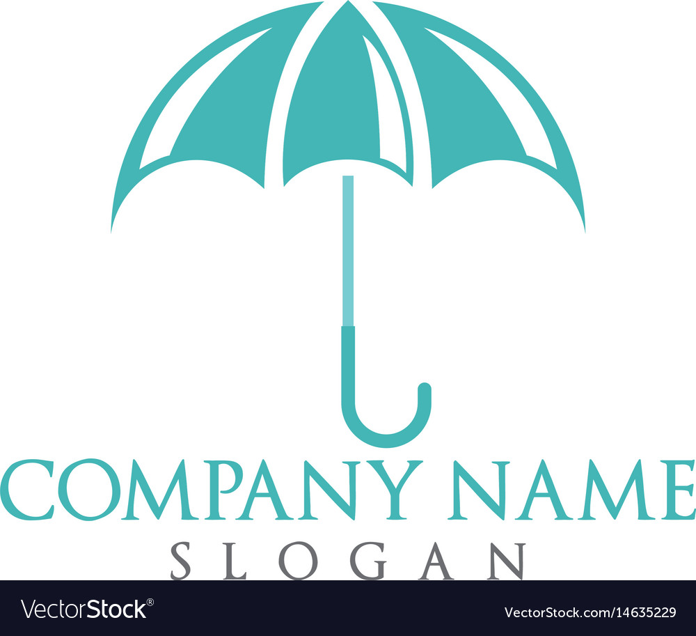 Umbrella logo design vector image