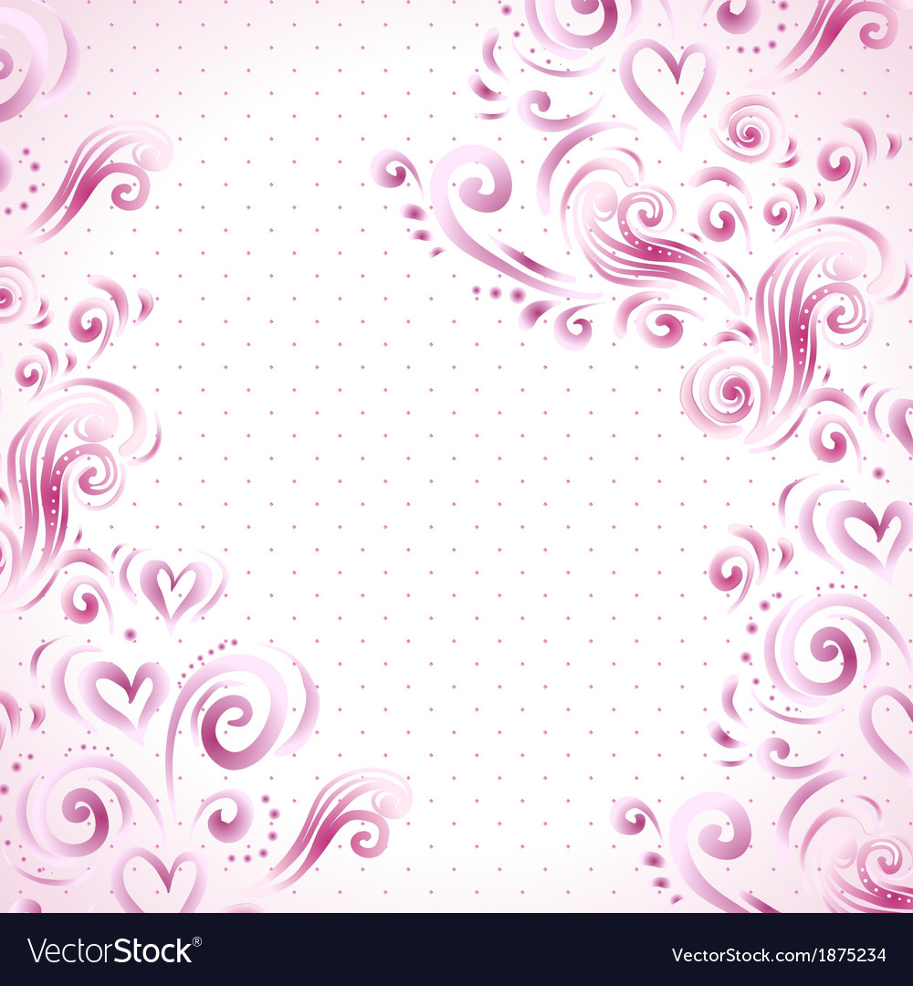 abstract floral background with hearts in pink vector image flower of life vector download flower of life vector download