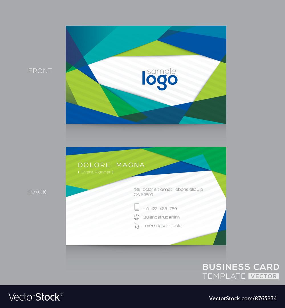 Abstract modern Blue Green Business card Design