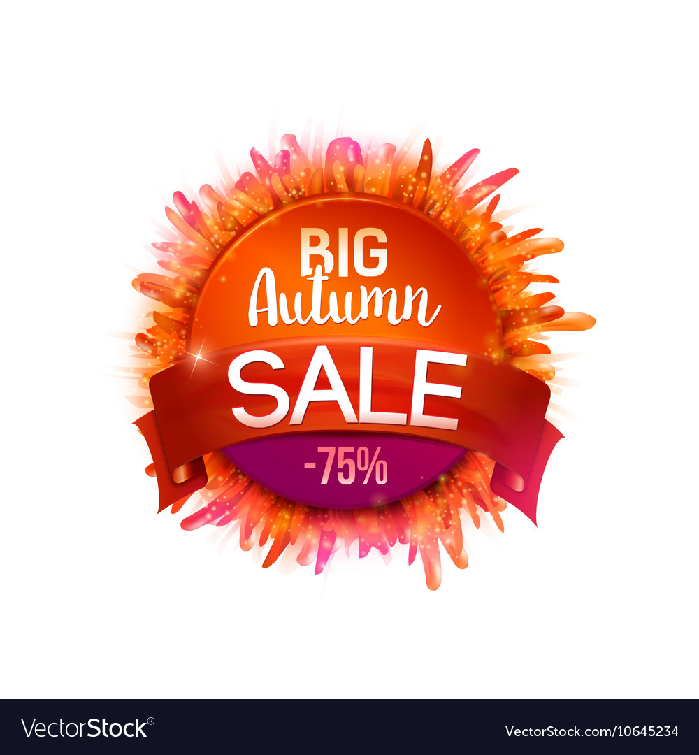 Autumn Sales Banner whith grass and tape