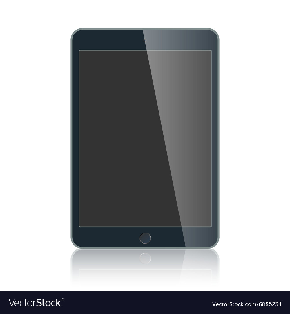Black business tablet isolated on white background