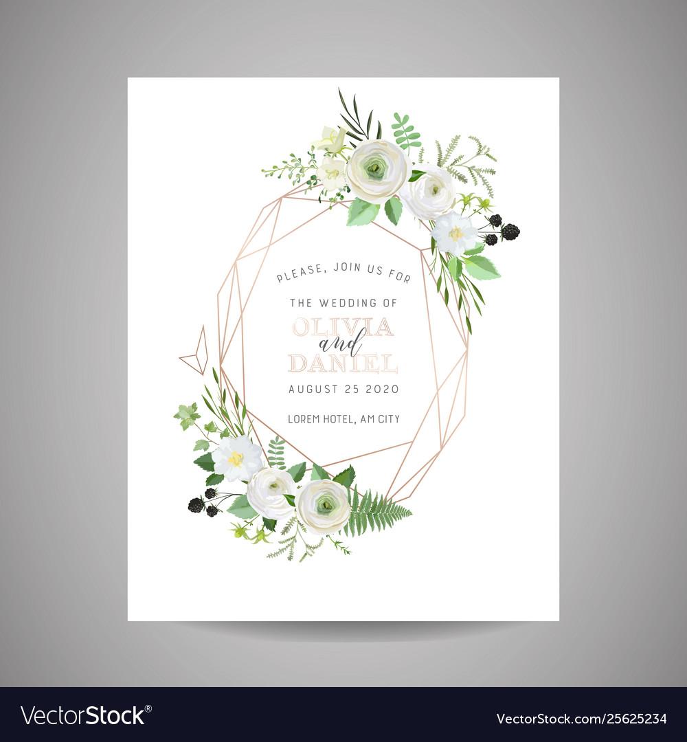 Botanical wedding invitation save date card