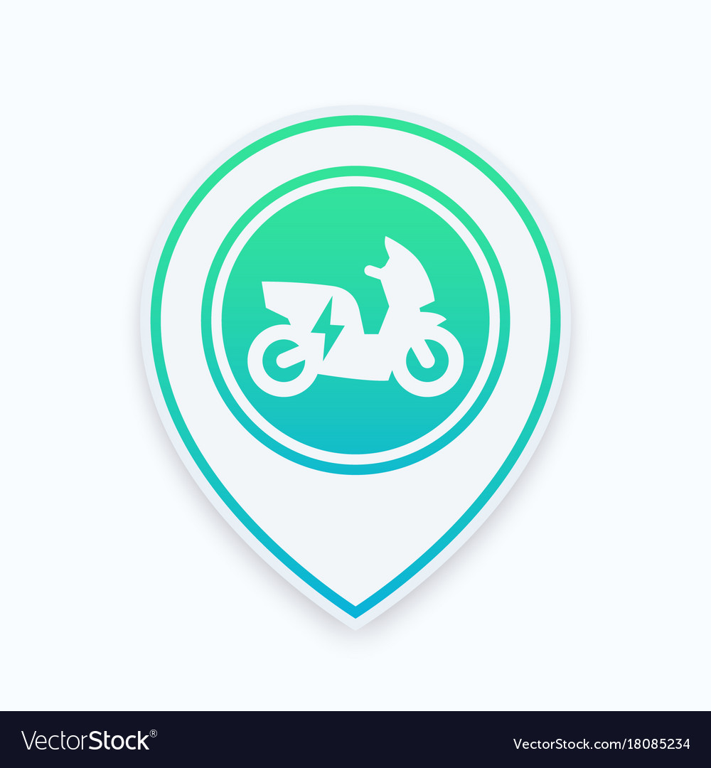 Electric scooter icon on map pointer
