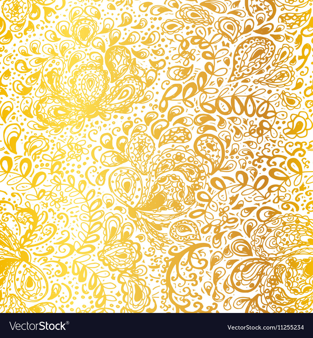 Floral doodle seamless wallpaper pattern