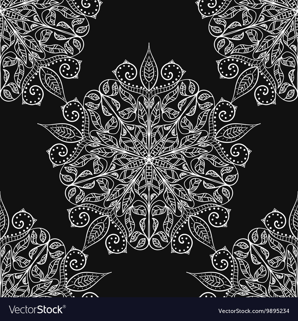 Handmade decorative ethnic seamless pattern in