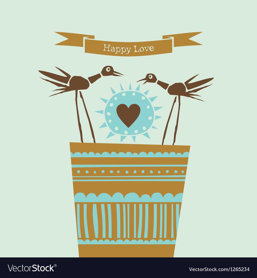 Happy love happy birds