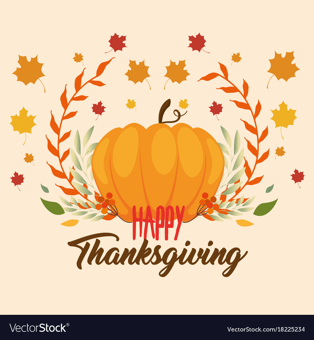 Happy thanksgiving day greeting card royalty free vector happy thanksgiving day greeting card vector image m4hsunfo