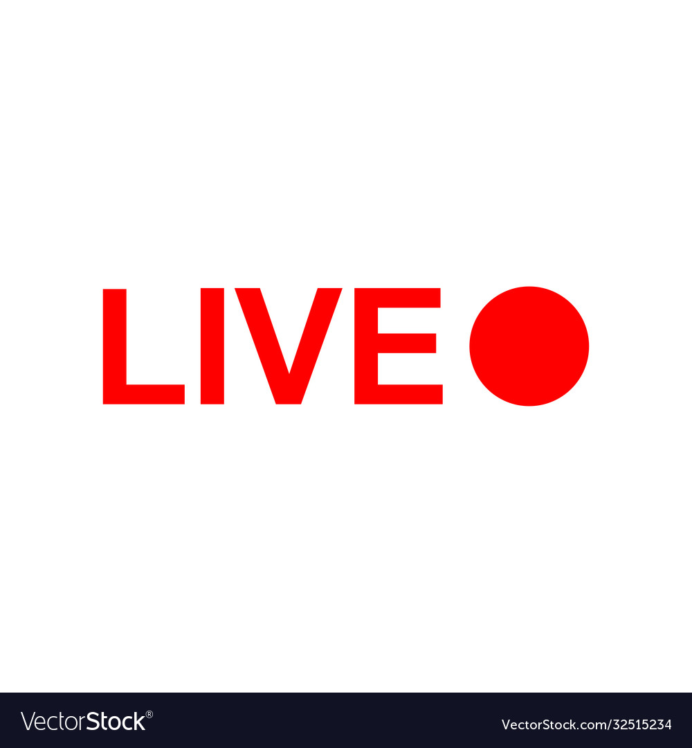 Live online stream icon isolated