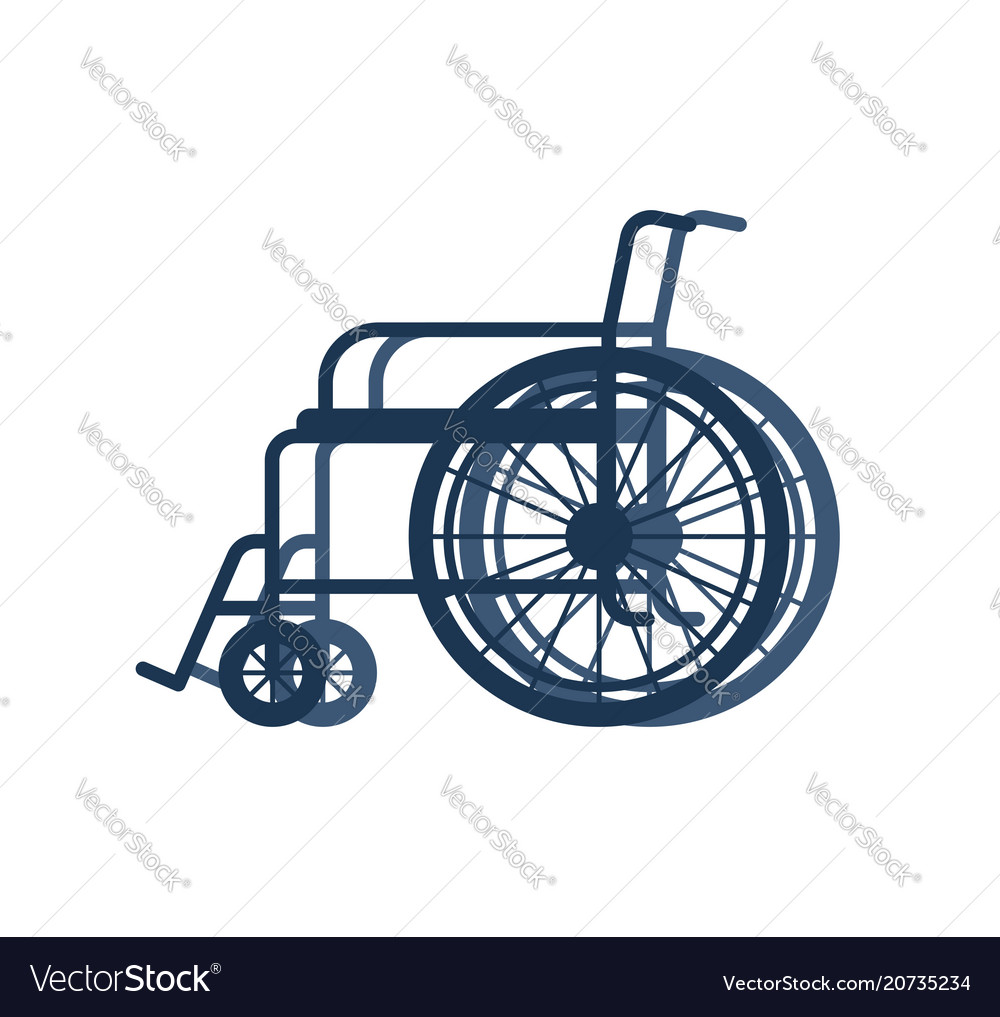 Wheelchair for disabled isolated on white