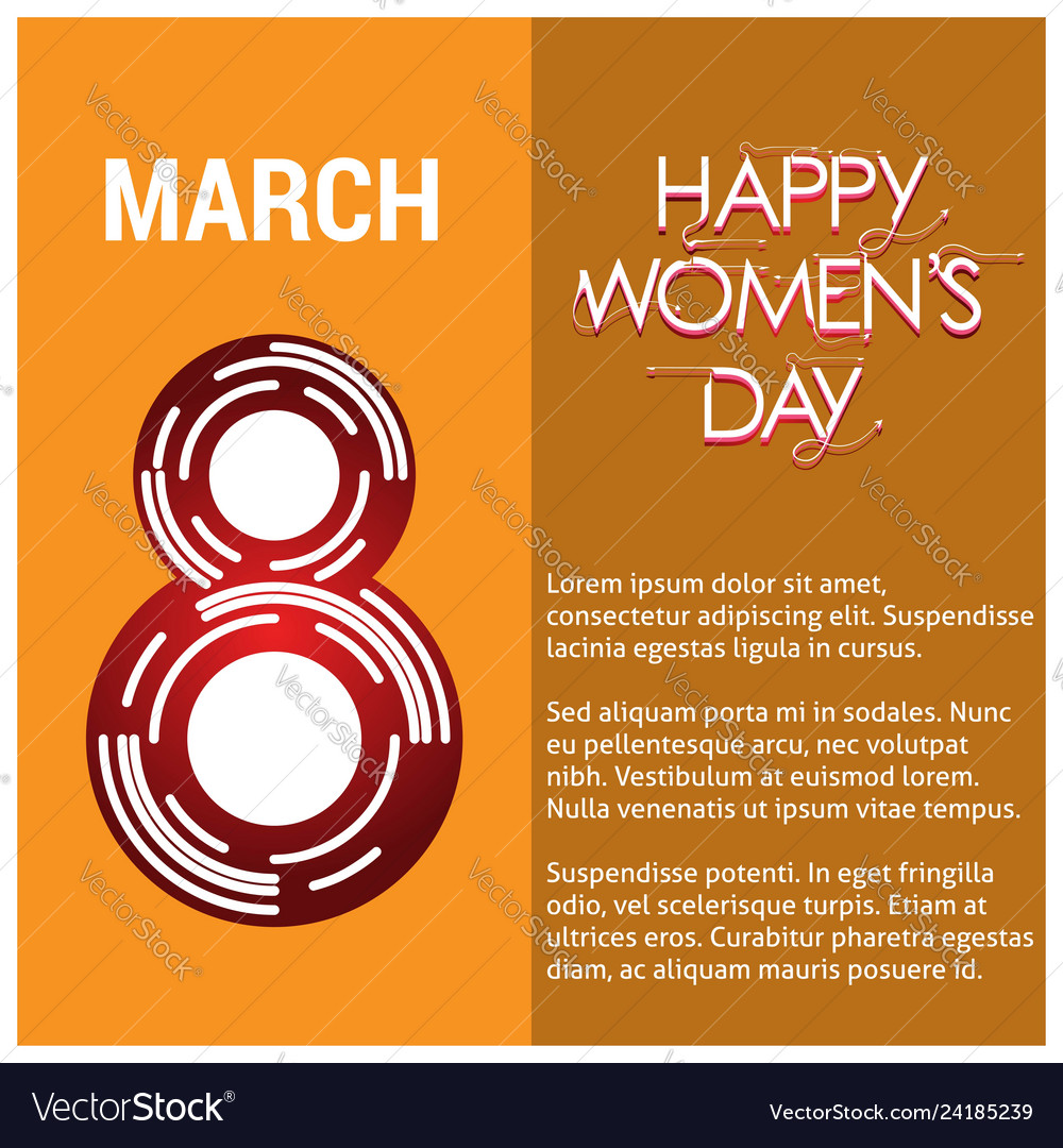 8 march logo design with international womens day