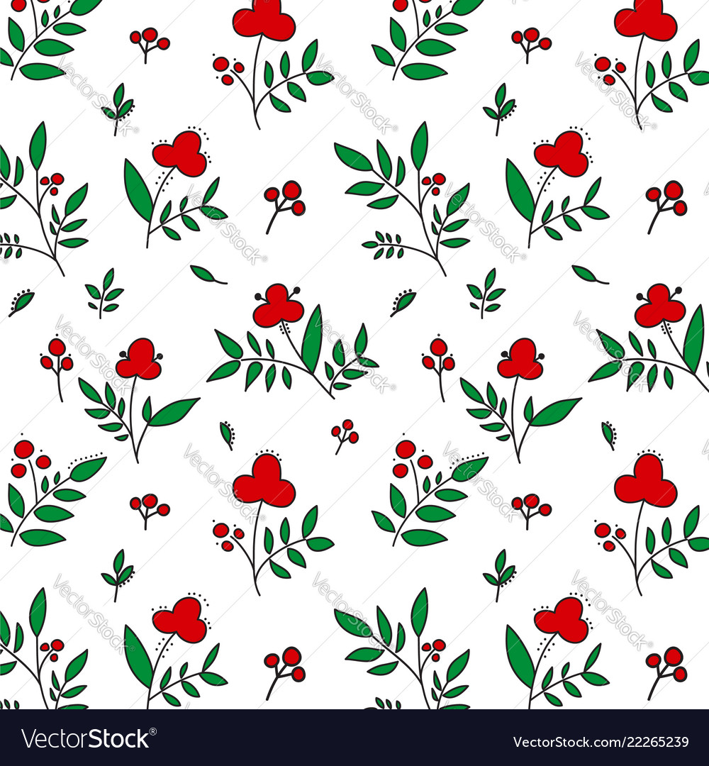 Colored seamless flower pattern