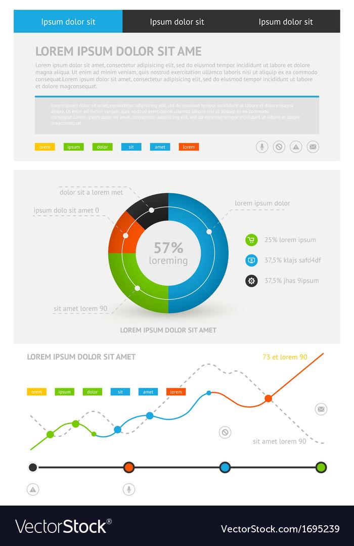 Elements of infographics Stock