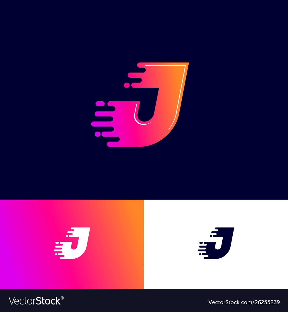 J And J Deli >> J Letter Winds Movement Dynamic Logo Velocity Deli