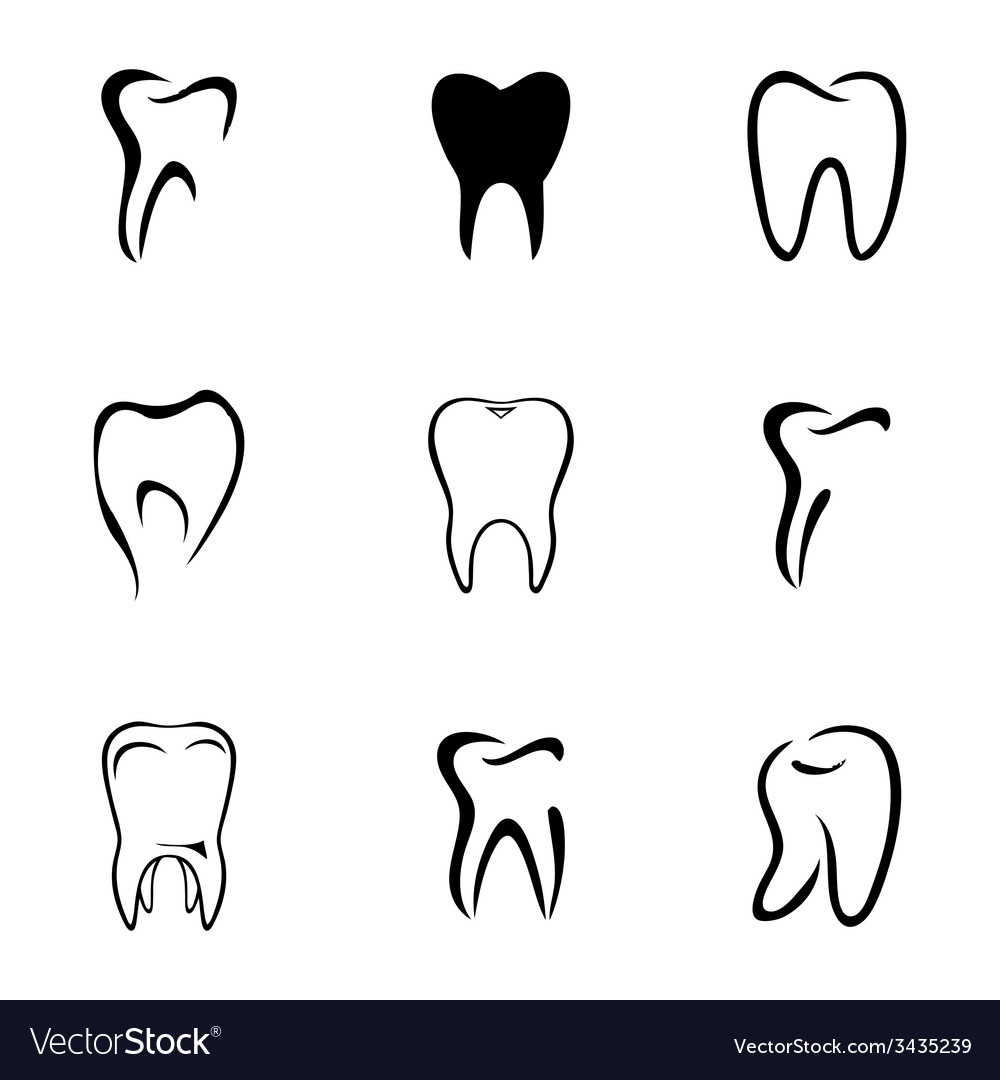 Teeth icon set