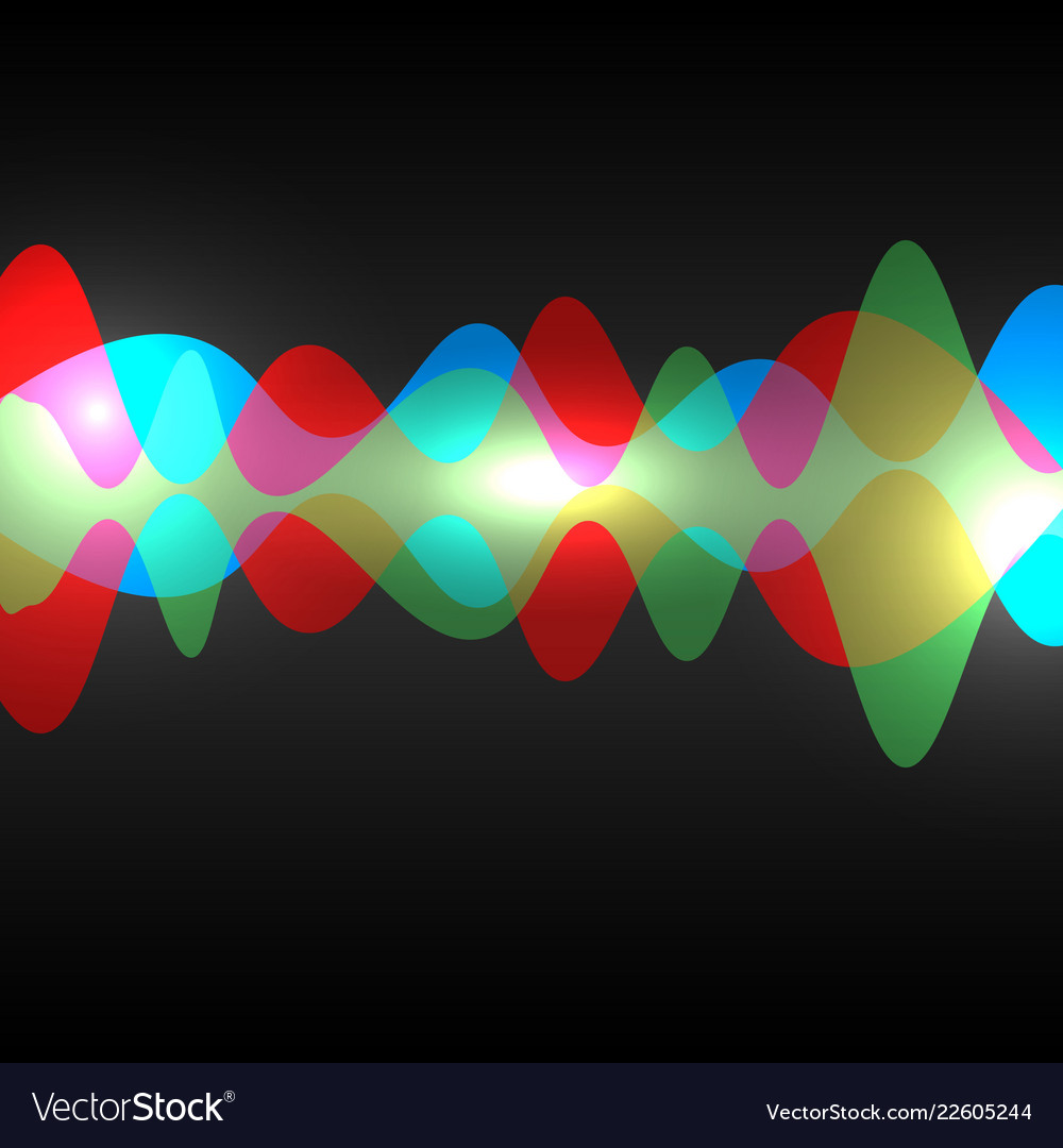 Abstract speaking sound wave