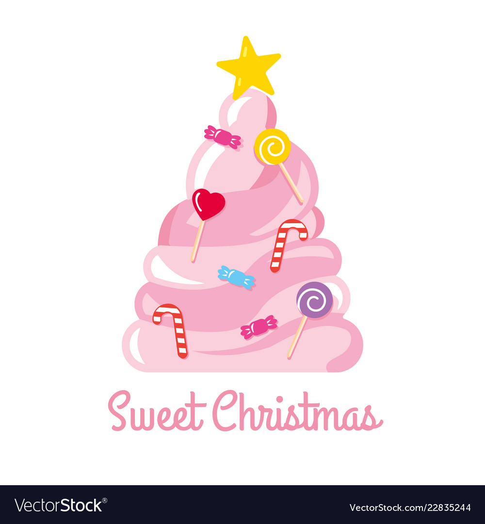 Christmas tree made of sweets and candies