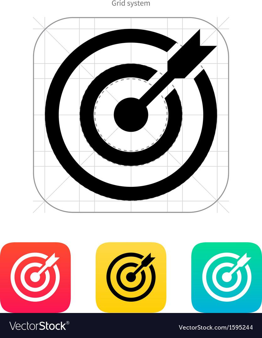 Darts target aim icon Successful shoot vector image