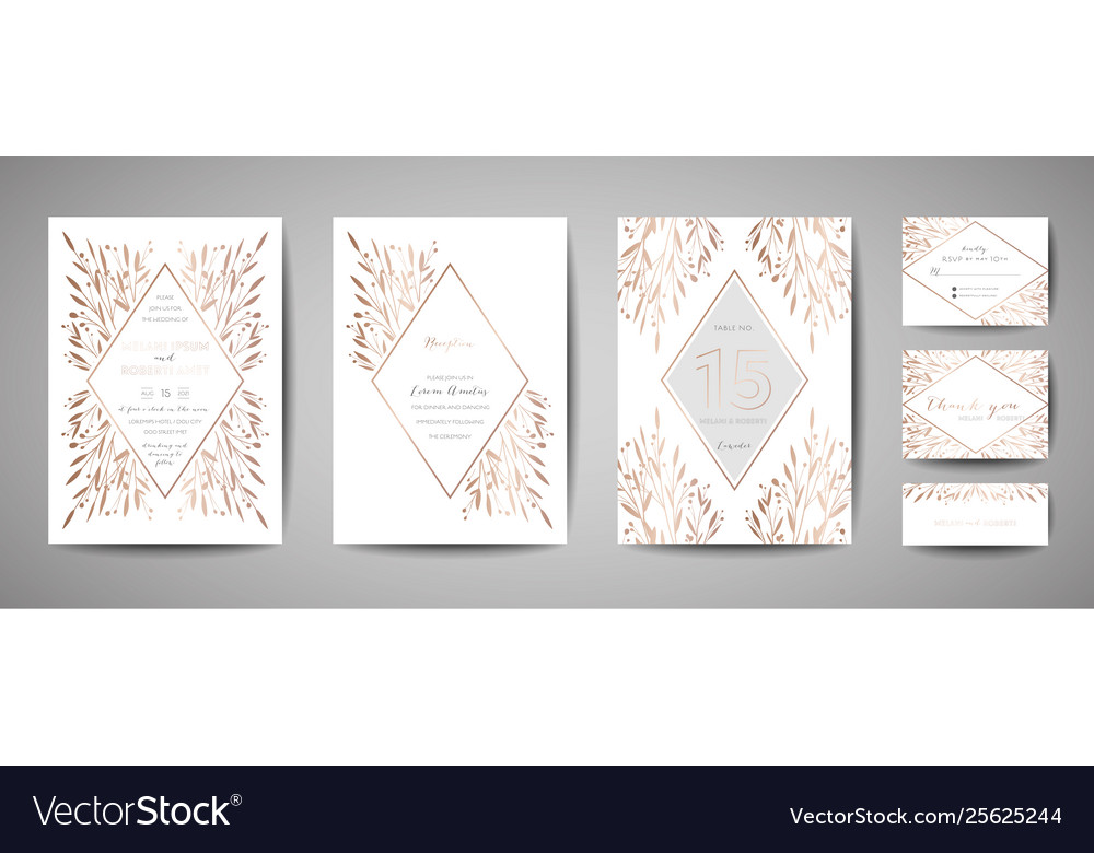 Flower wedding save date invitation cards