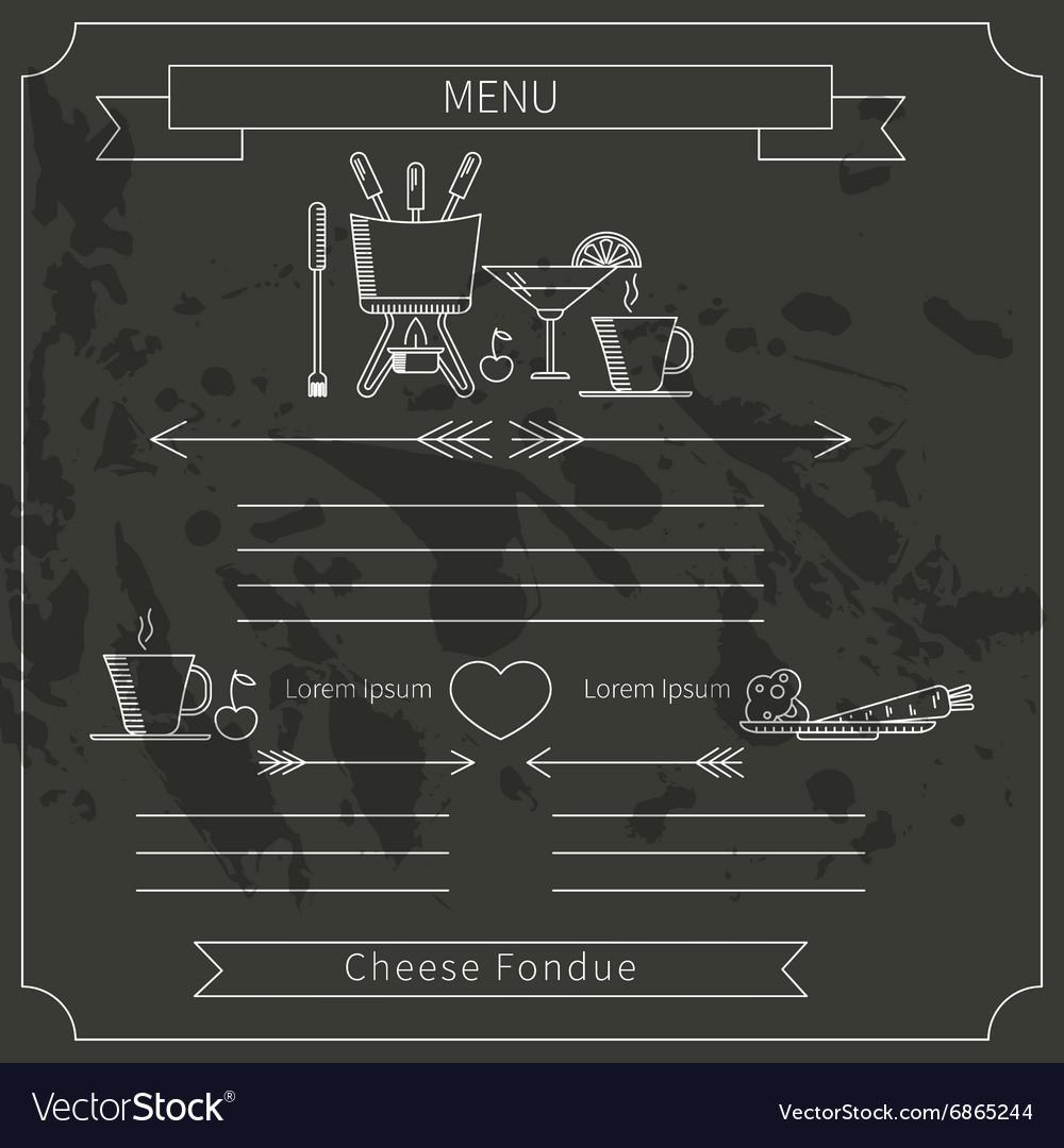 Fondue menu template