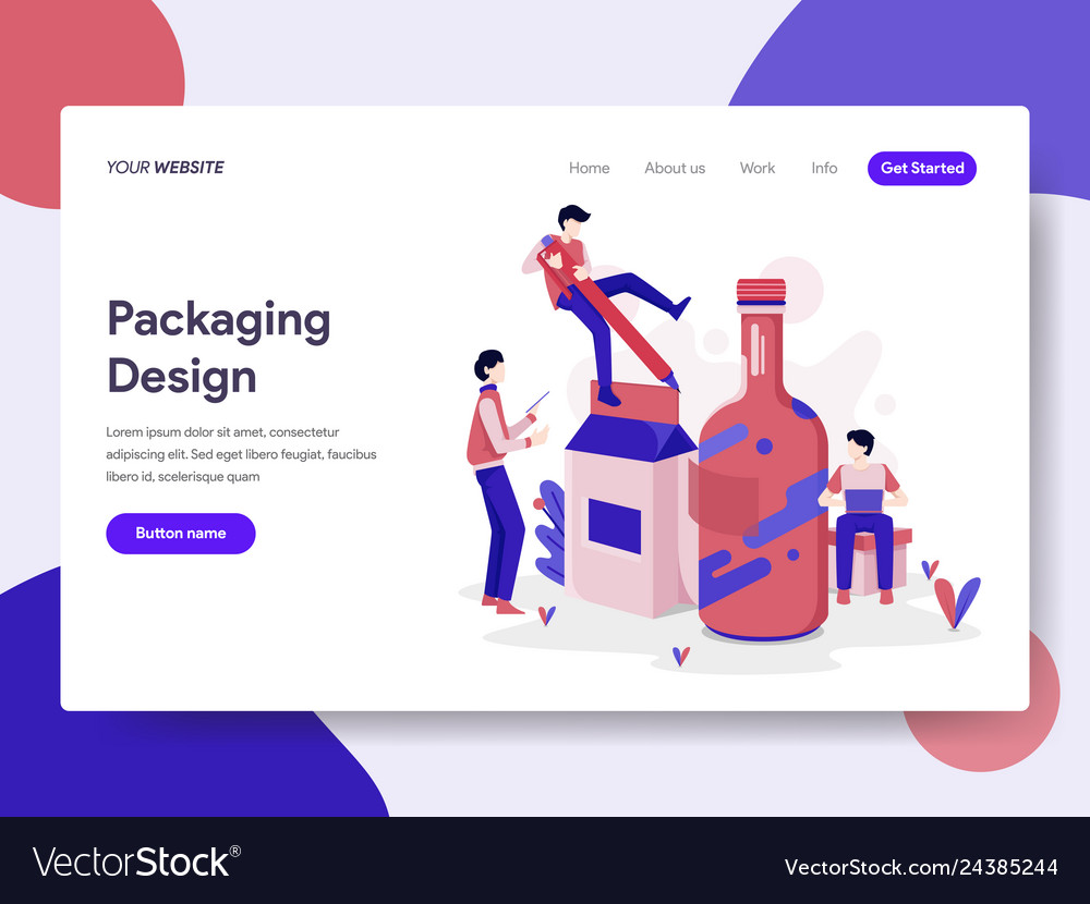 Landing page template packaging design