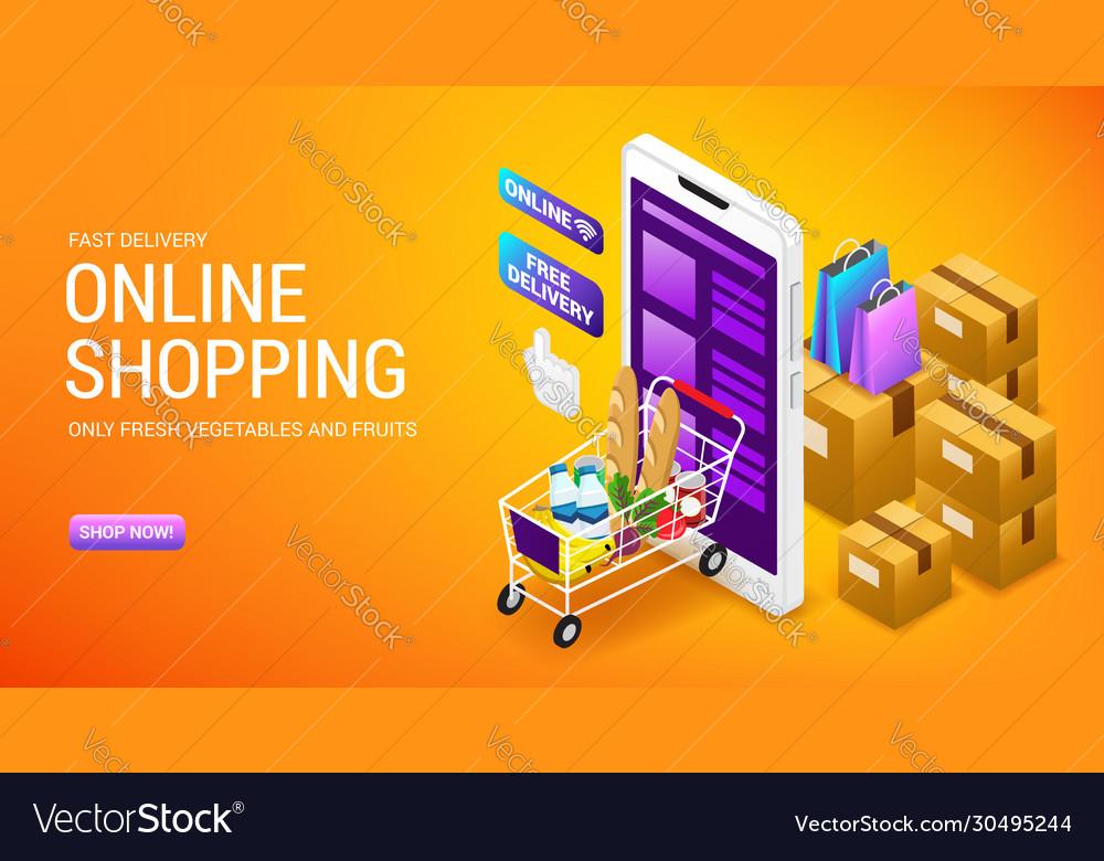 Online shopping order delivery service internet