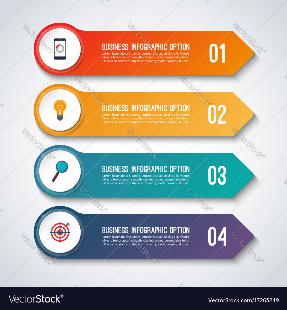 Arrow infographic options banner template vector image