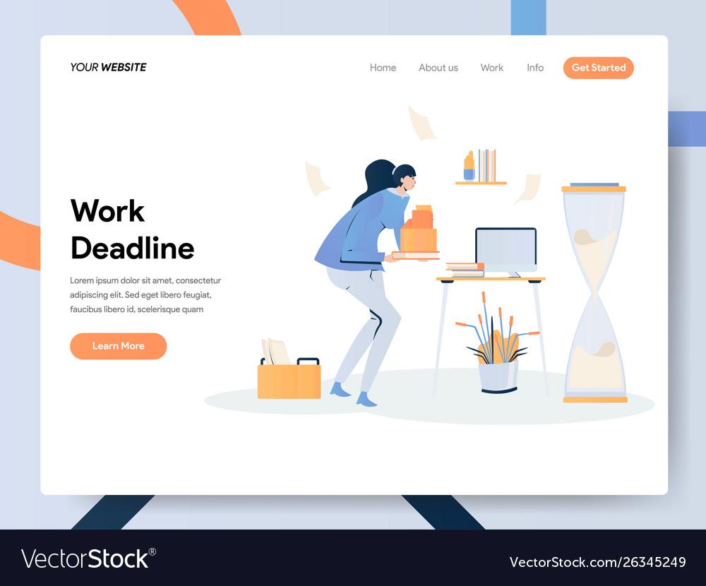 Businesswoman working on deadline concept modern