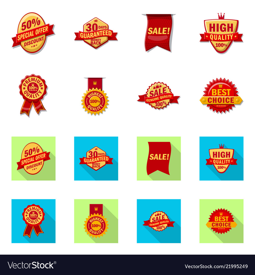 Design of emblem and badge symbol set of