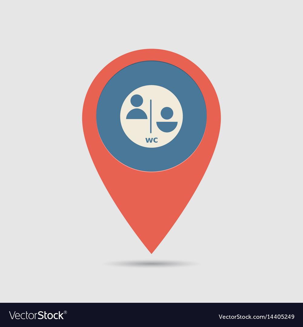 Map pin wc