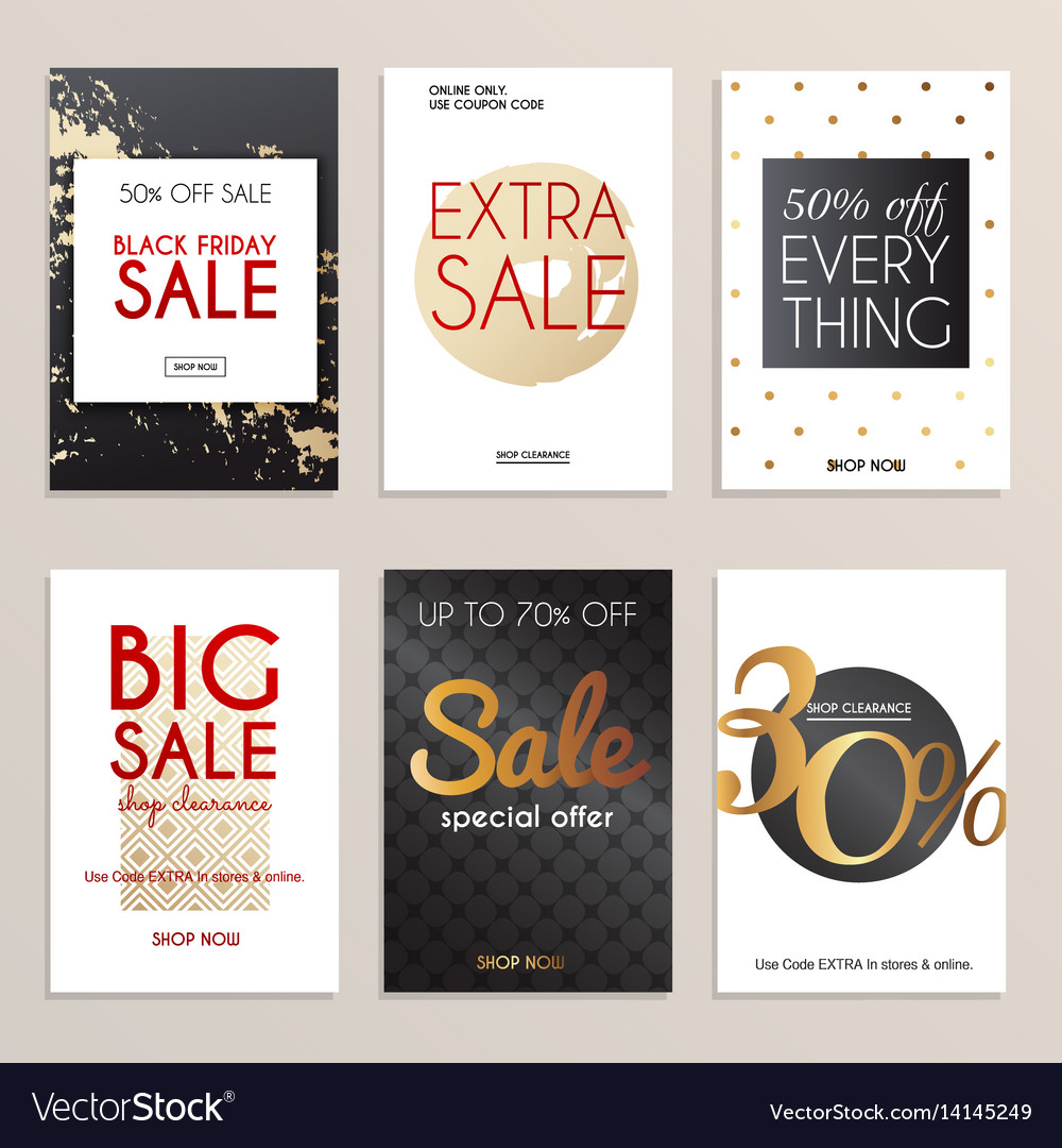 Sale website banners web template collection can
