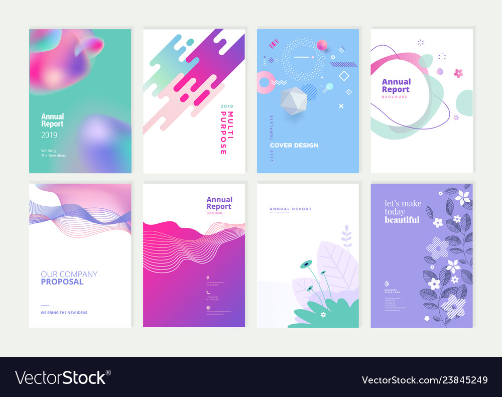 Set of brochure and annual report design templates