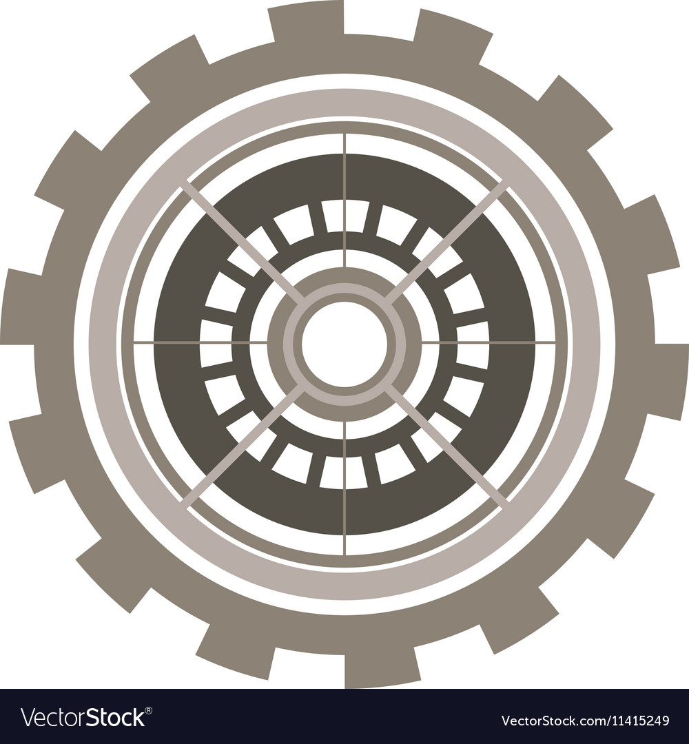 Silhouette gear wheel with crown and pinion