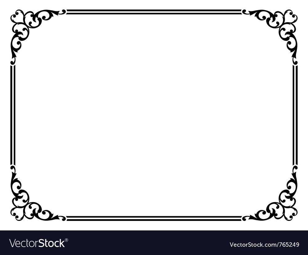 simple ornamental frame royalty free vector image rh vectorstock com frame vector ai frame vector cdr