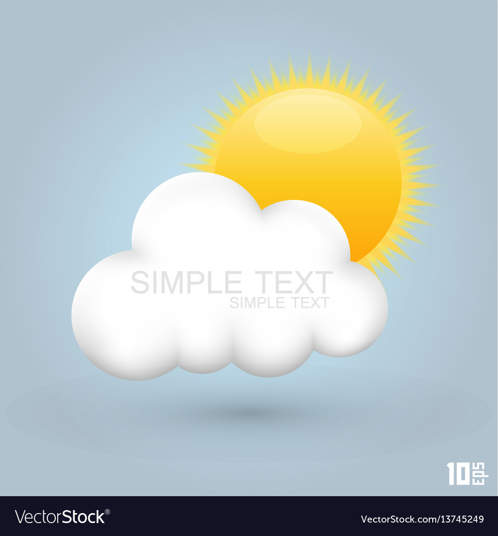 Sun in the cloud vector image