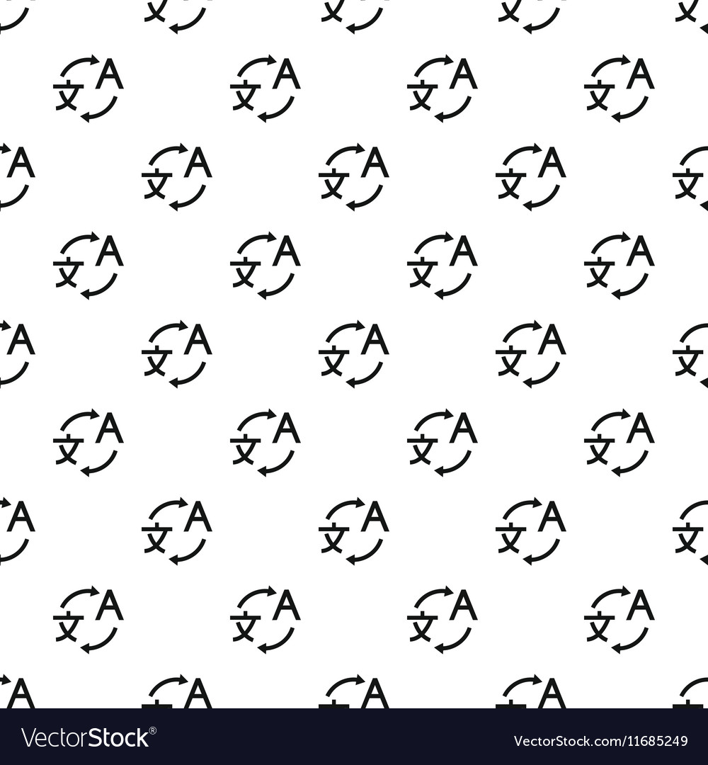 Translation pattern simple style vector image