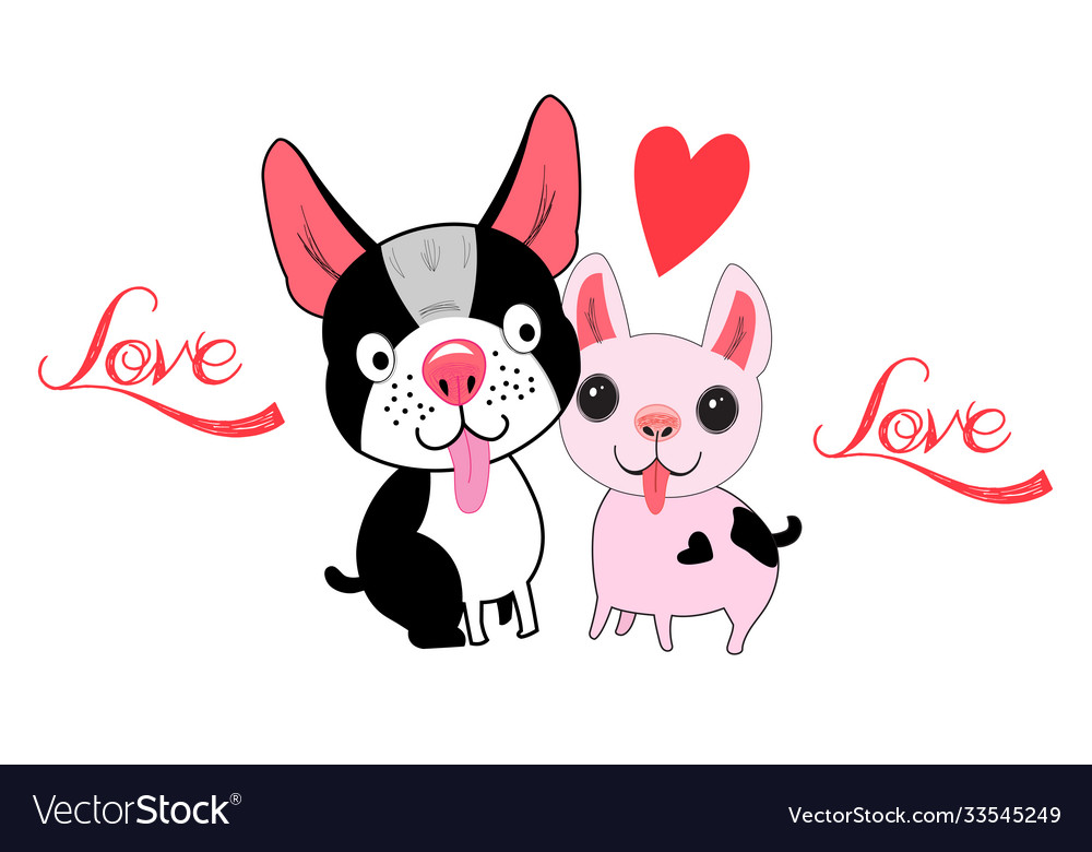 With loving dogs and a heart