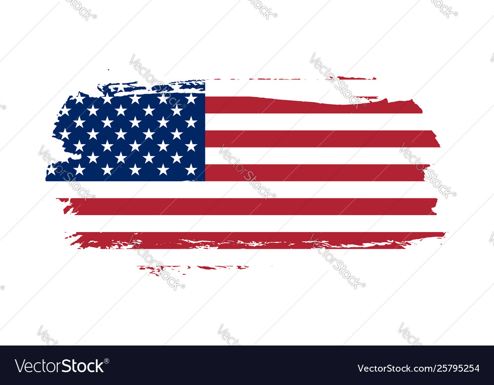 American flag grunge old flag usa isolated white