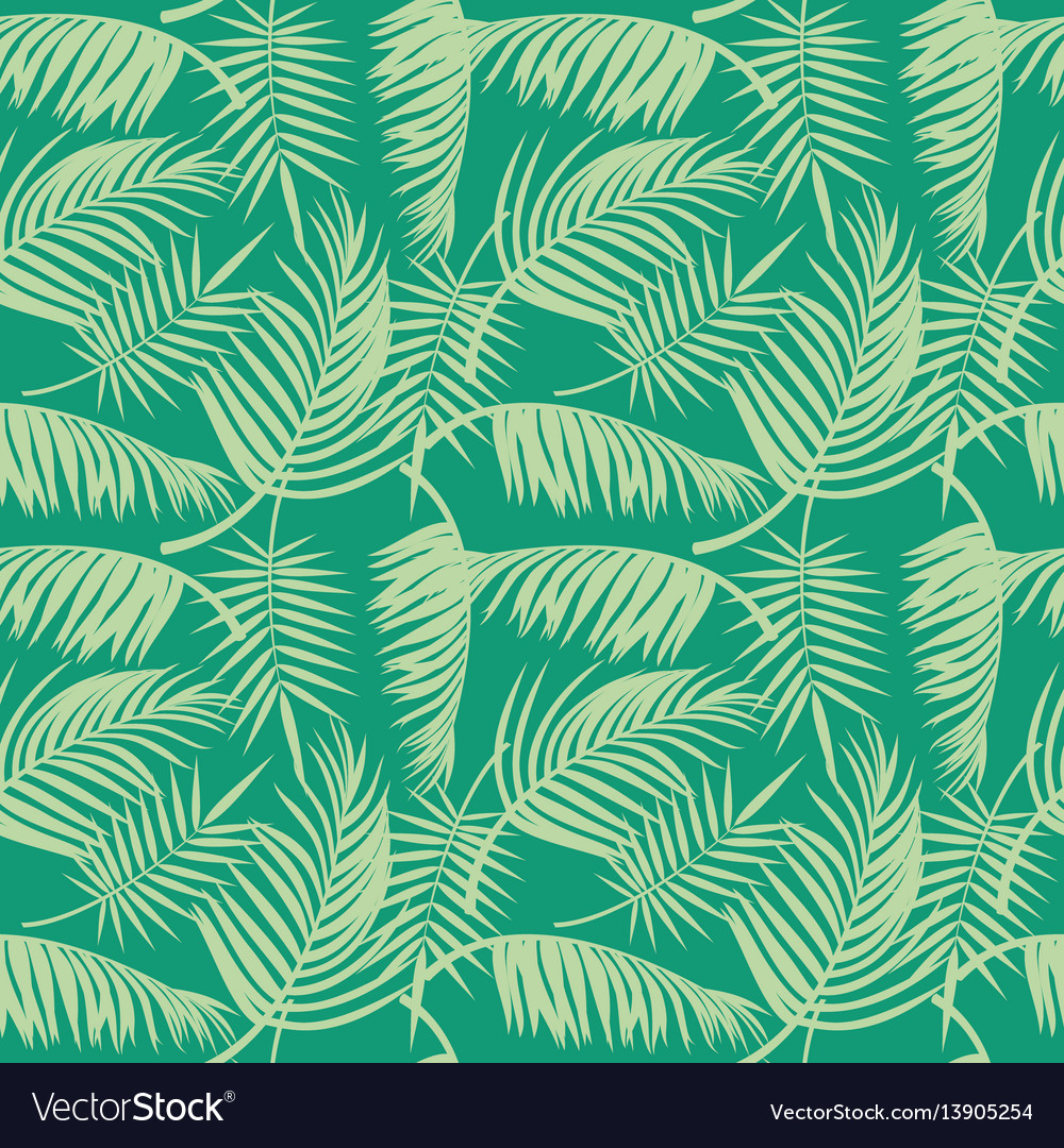 Beach seamless pattern with tropical palm